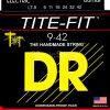DR Strings tite-fit - lt-9 - Electric Guitar String Set, Light, .009-.042